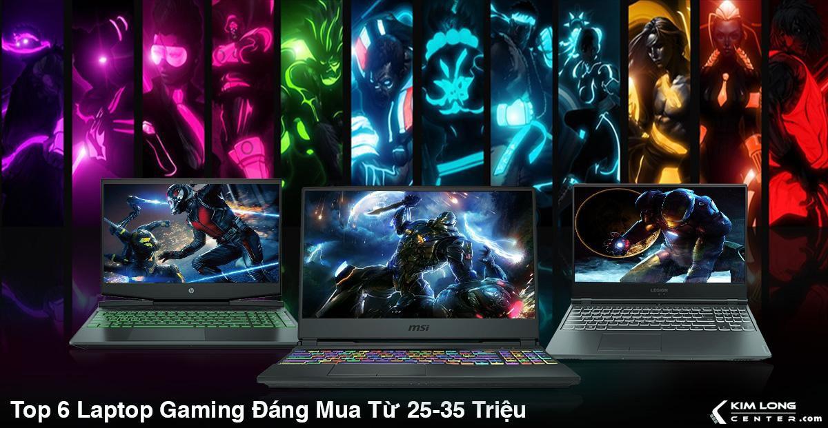 top 6 laptop gaming đáng mua 25-35 triệu