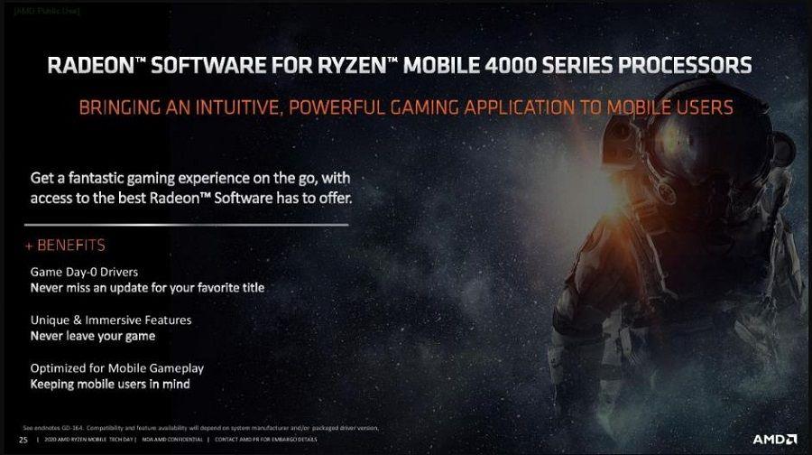 Các phần mềm Radeon sẽ đi kèm AMD Ryzen 4000