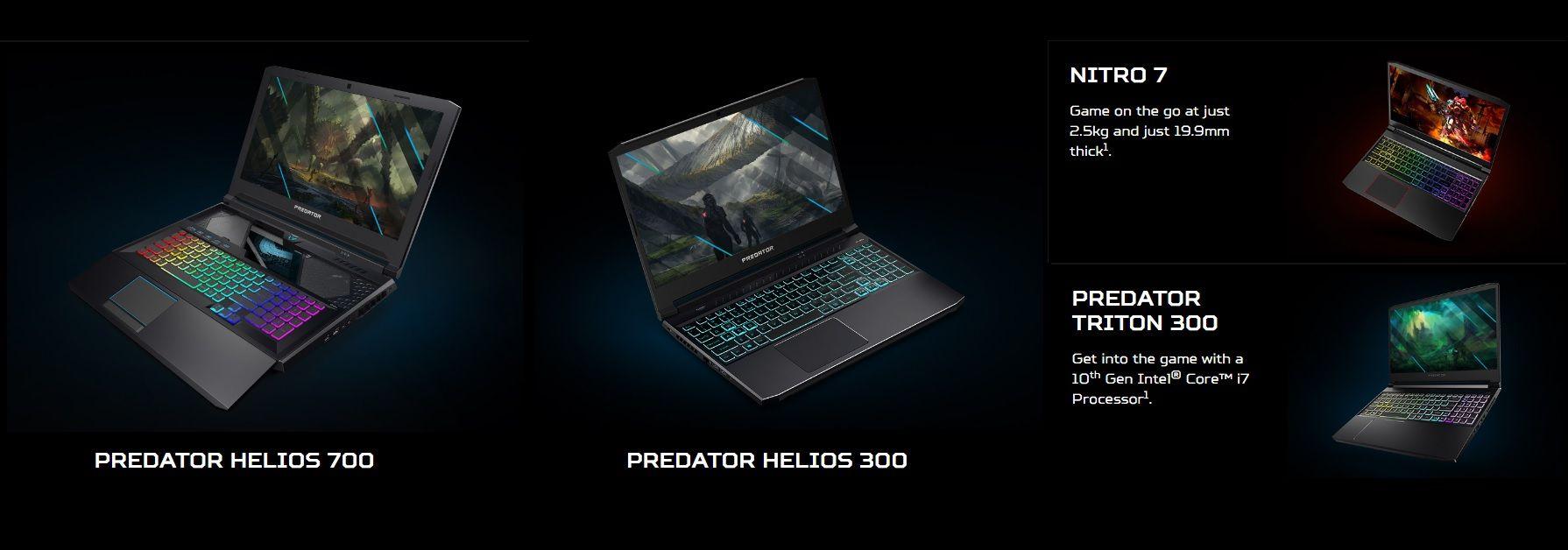 Acer Nâng Cấp 4 Laptop Gaming Với CPU Intel Thế Hệ 10