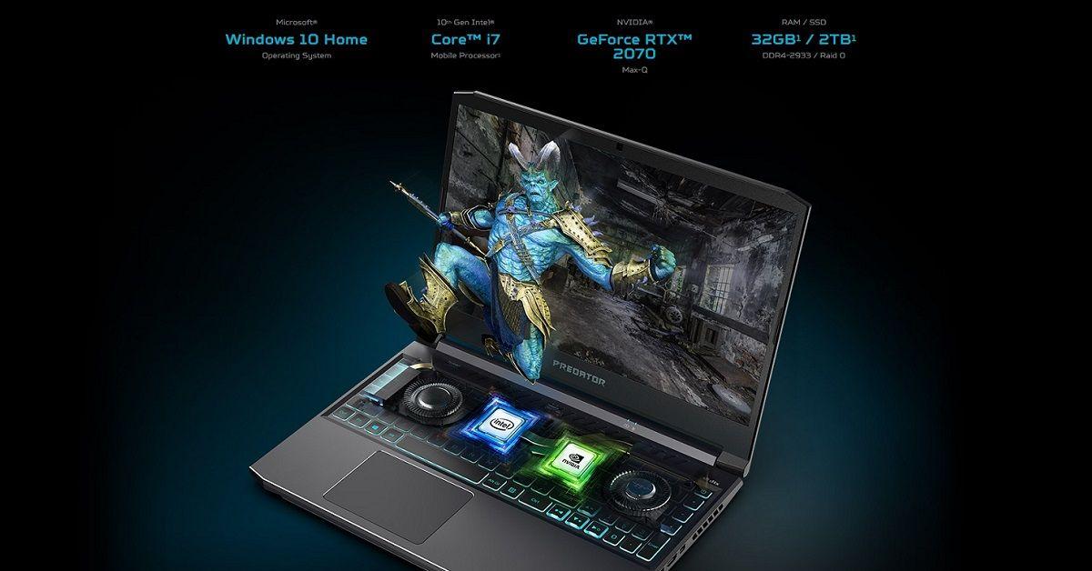 Cấu hình lên đến Core i7-10875H & GeForce RTX 2070 Max-Q