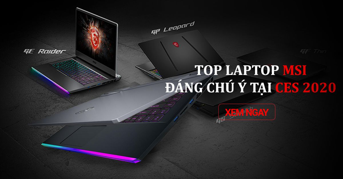 5 LAPTOP MSI HOT CES 2020