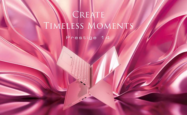 MSI Prestige 14 phiên bản màu hồng mới khá thu hút