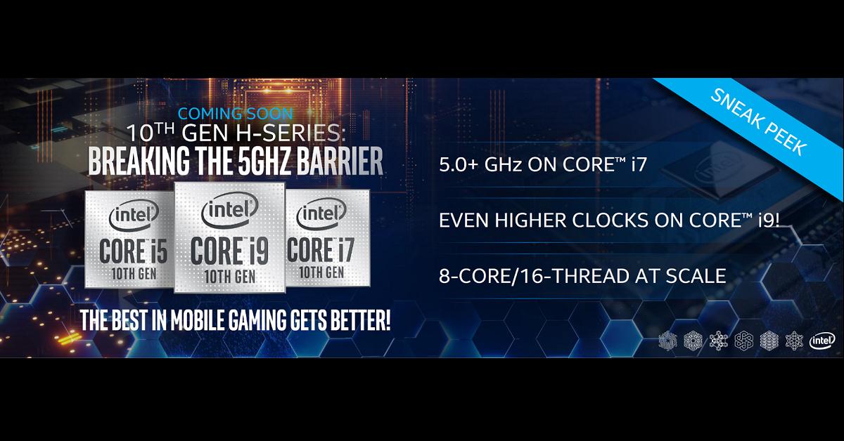 CPU Intel Comet Lake-H thế hệ 10 – Thông số kỹ thuật được tiết lộ