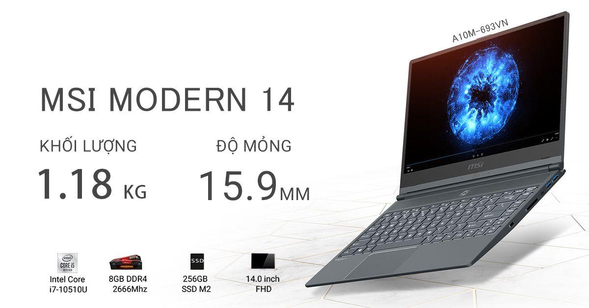MSI MODERN 14 A10M-693VN