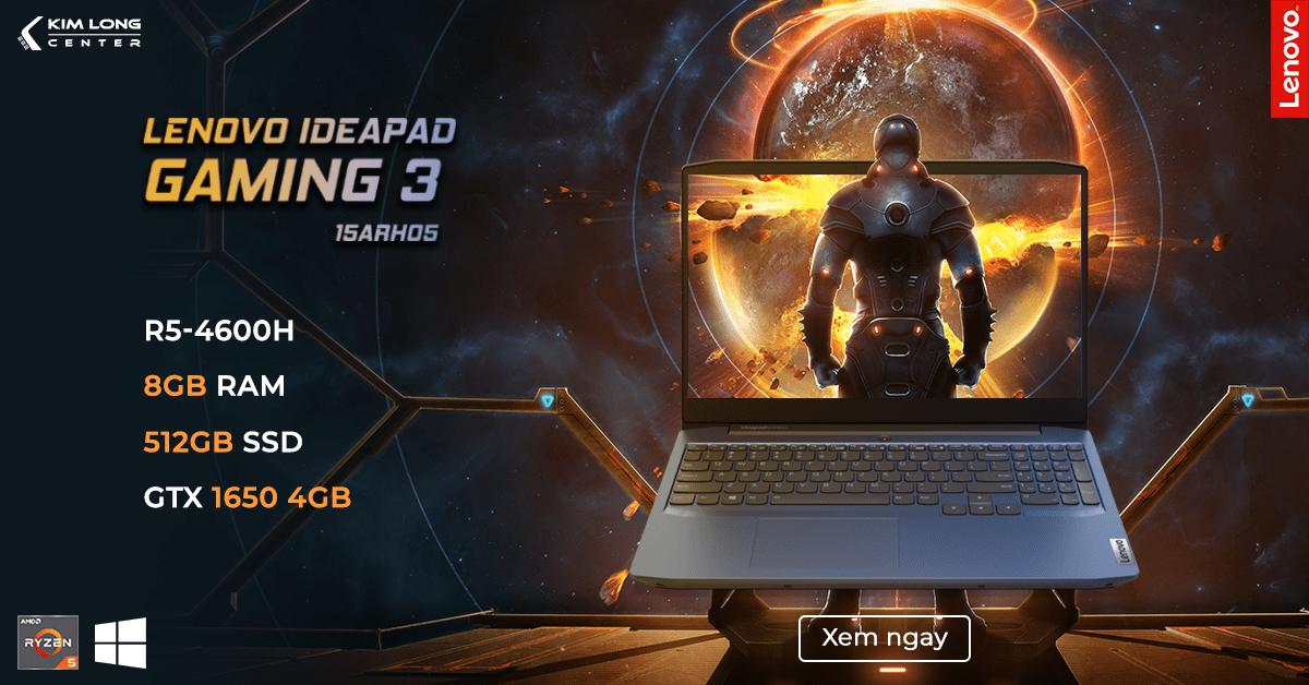 laptop cho sinh viên đồ họa 2020 Lenovo IdeaPad Gaming 3 15ARH05 (82EY005VVN)