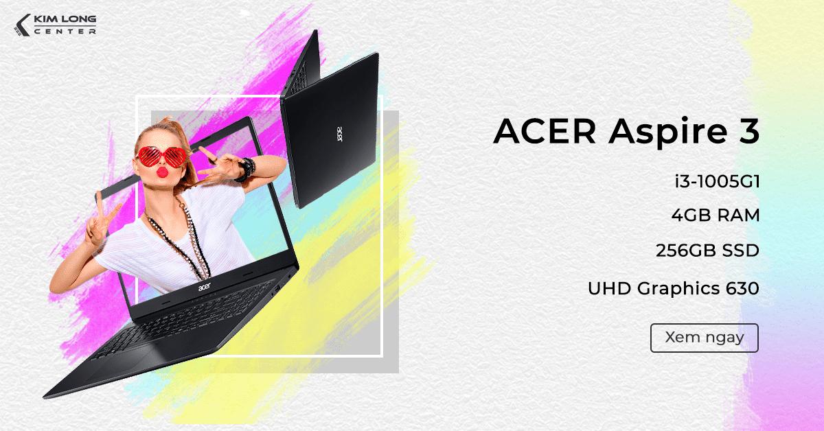 Laptop Acer Aspire 3 A315-56-37DV cho sinh viên đồ họa