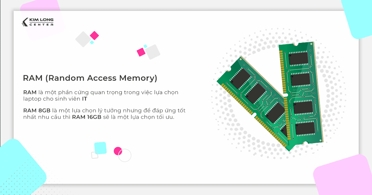 Laptop lập trình nên có tối thiếu RAM 8GB