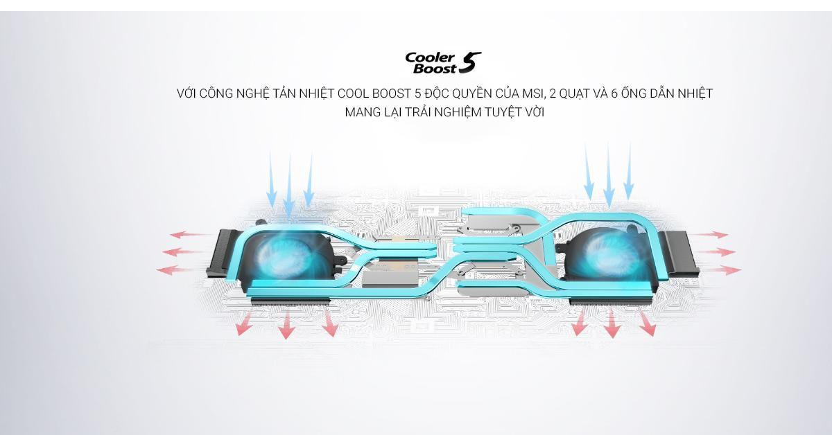 Công nghệ tản nhiệt hiện đại với Cooler Boost 5