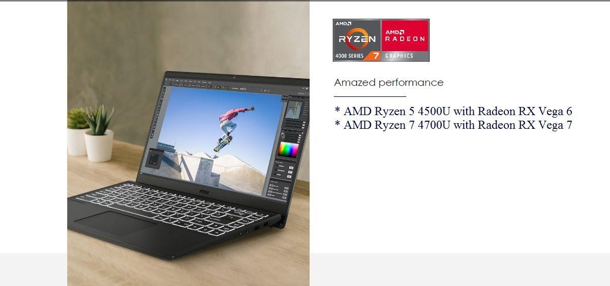 MSI Modern 14 (2020) với trang bị phần cứng từ AMD