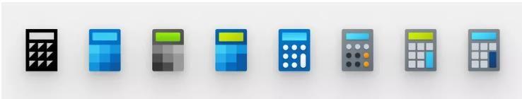 Sự phát triển của biểu tượng Calculator