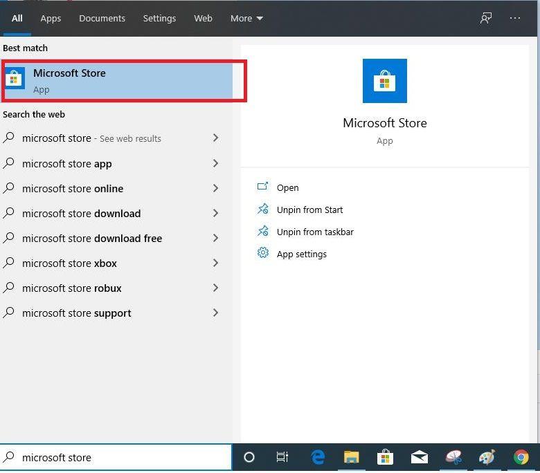 Vào Microsoft Store để mua Product Key Windows 10 Pro