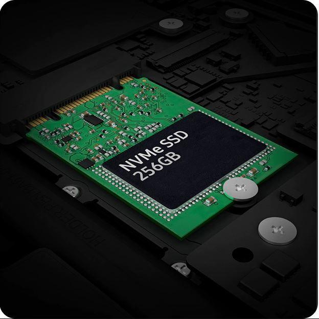 SSD 256GB hỗ trợ xử lý công việc nhanh chóng hơn