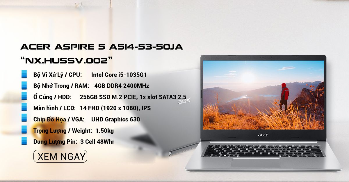 laptop Acer Aspire 5 A514-52-50JA