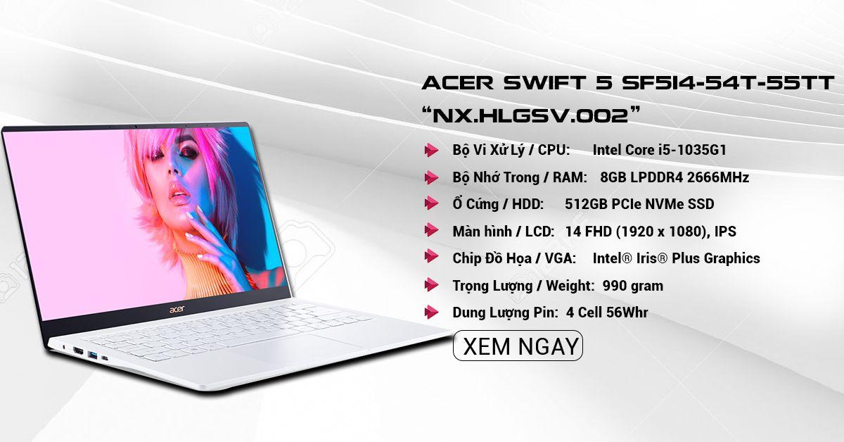 Laptop Acer Swift 5 SF514-54T-55TT