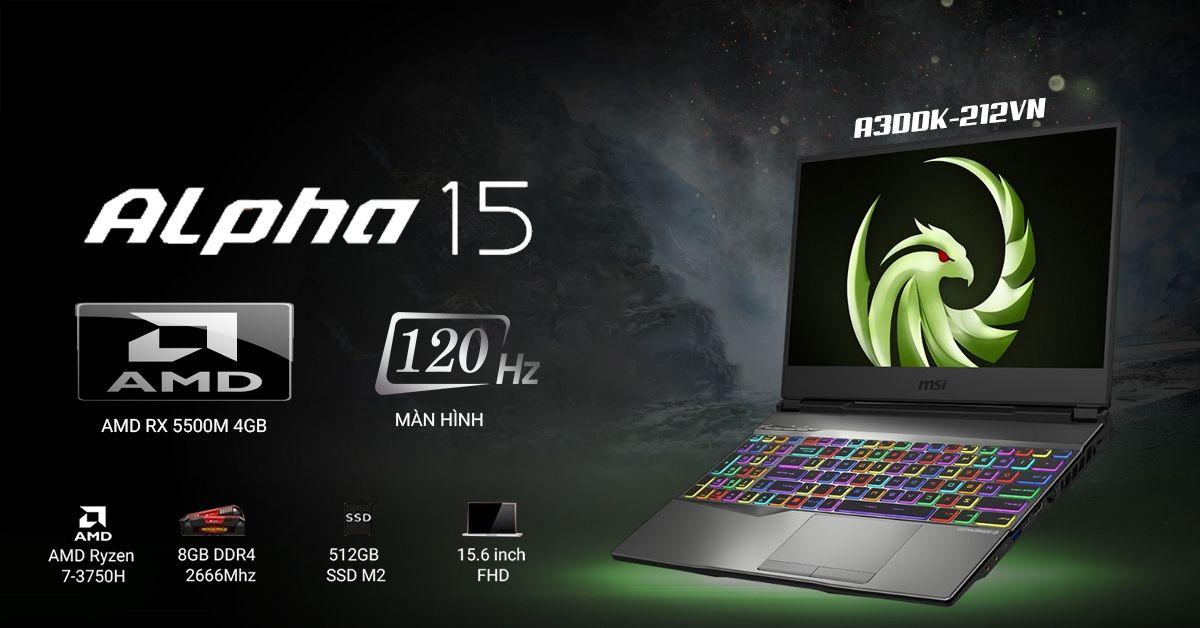 msi alpha 15 gaming laptop đáng mua 2020