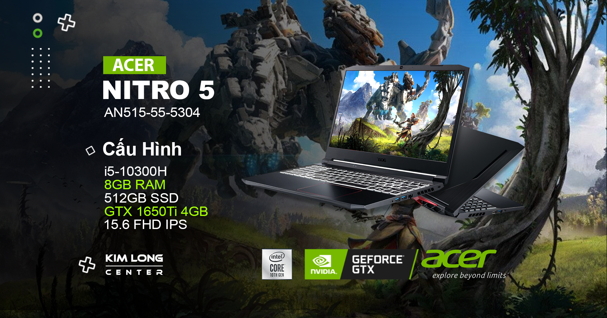 laptop gaming Acer Nitro 5 AN515-55-5304
