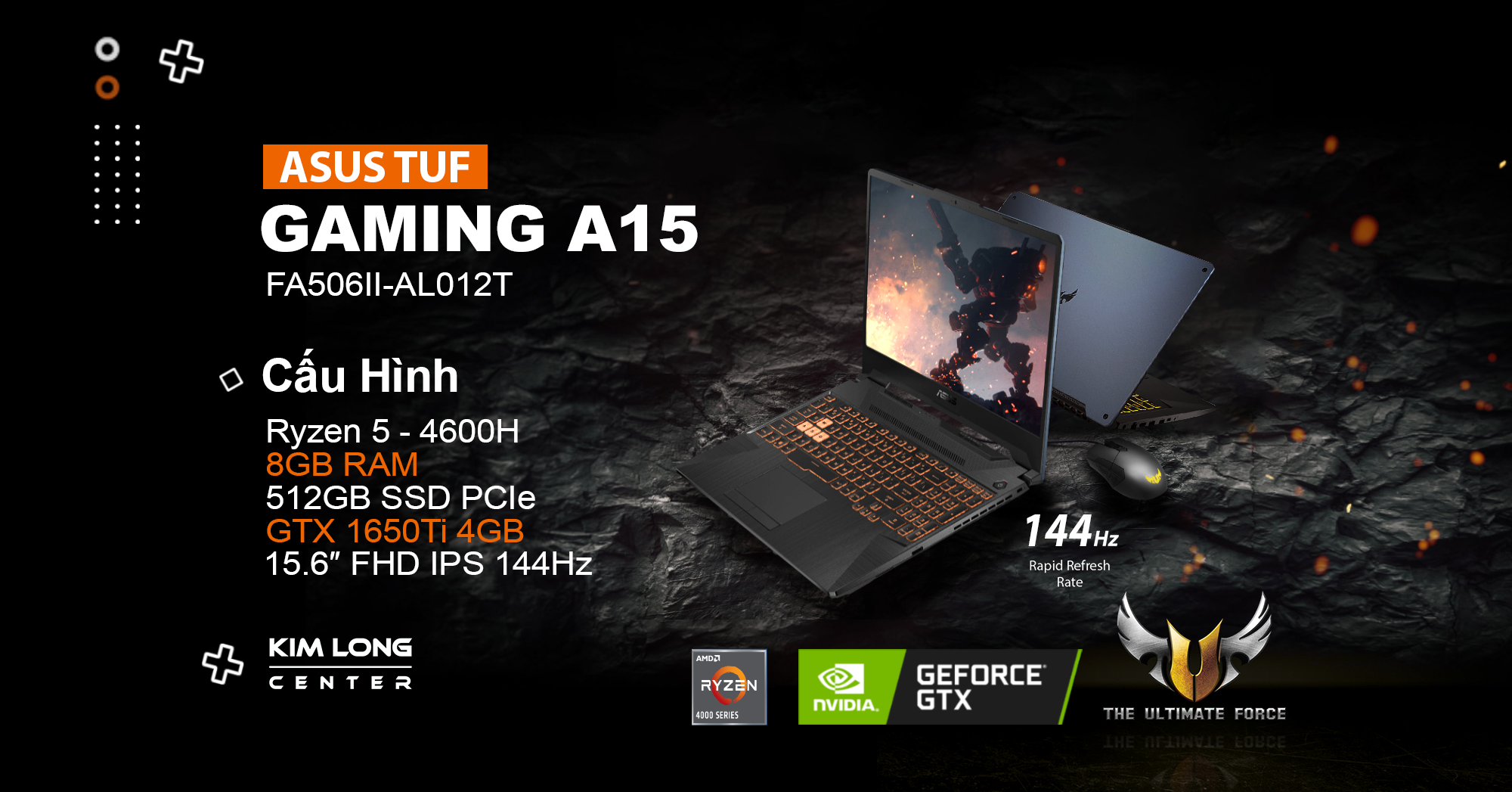 Laptop gaming Asus TUF FA506II-AL012T