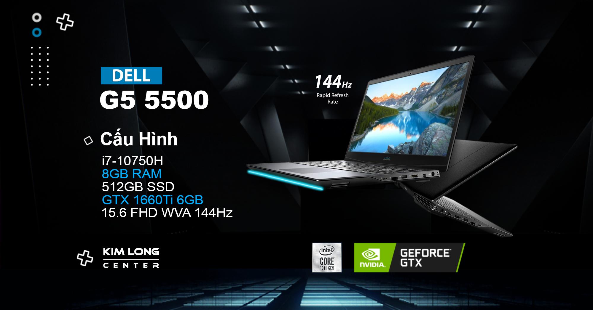 dell g5 5500 là một trong những laptop gaming đáng mua nhất 2020