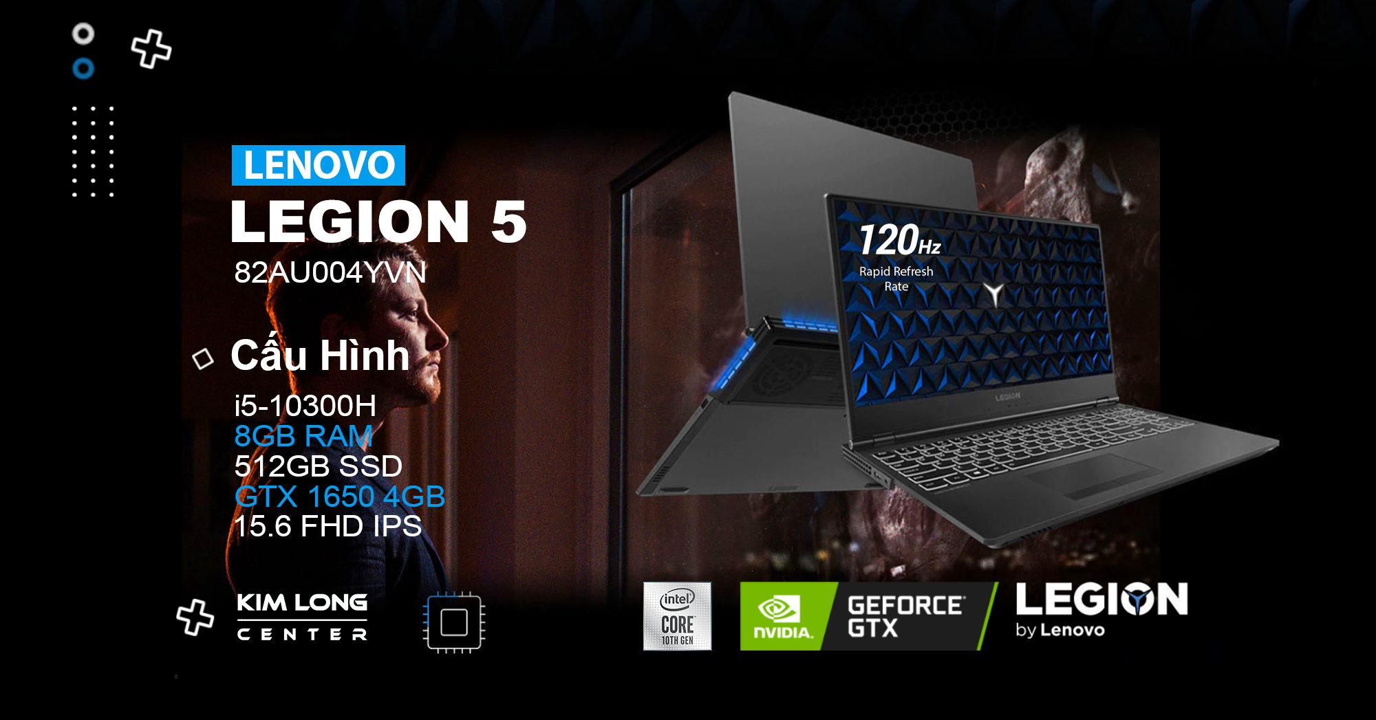 laptop gaming Lenovo Legion 5 15IMH05 (82AU004YVN)