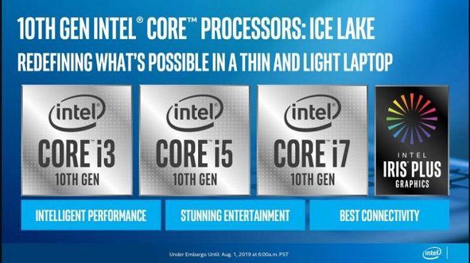 Chip Ice Lake tiến trình 10nm mới đồ họa Irus Plus đực nâng cấp