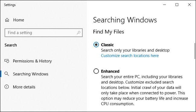 Windows Search với tính năng tìm kiếm nâng cao