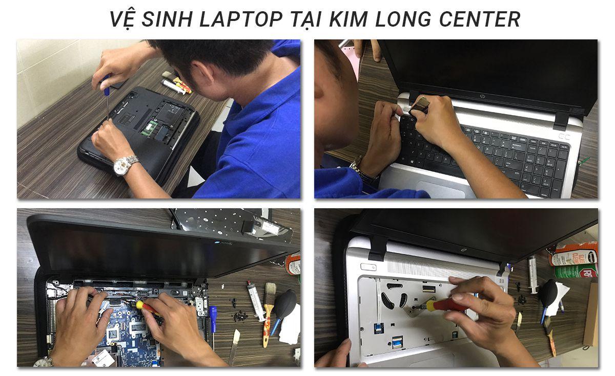vệ sinh laptop tại kimlong center