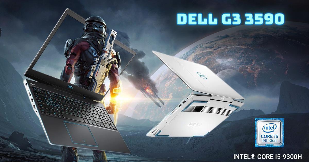 Dell G3 3590 có thiết kế mạnh mẽ nhưng cũng rất đẹp mắt