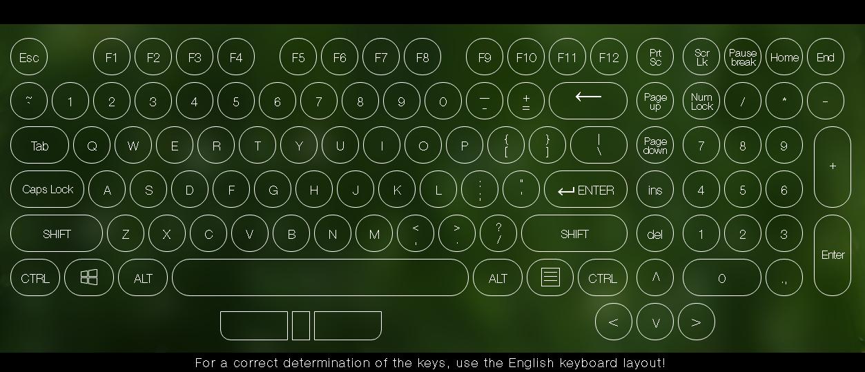 giao diện key test