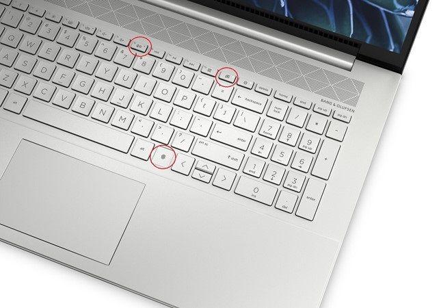 Bảo mật vân tay, phím tắt âm và bâth/tắt camera ngay trên bàn phím