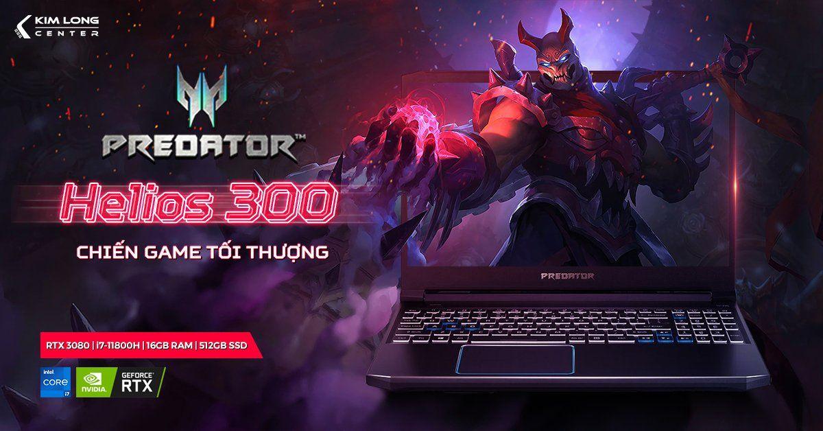 Predator Helios 300 chiến game tối thượng